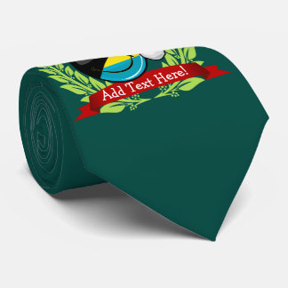 Estilo alegre del navidad de la bandera de Bahamas Corbata