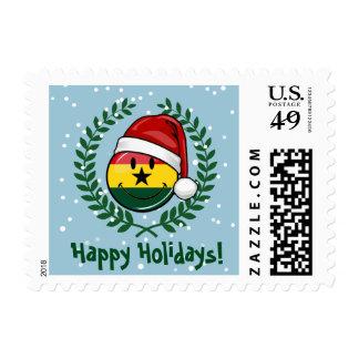 Estilo alegre del navidad de la bandera de Ghanian Timbres Postales