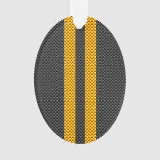 Estilo amarillo de oro de la fibra de carbono de
