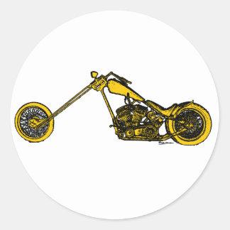 Estilo amarillo del interruptor pegatinas redondas