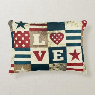 Estilo americana patriótico de América del amor Cojín Decorativo