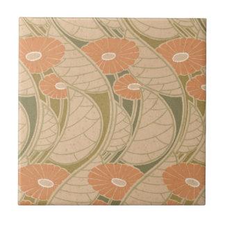 estilo anaranjado del noueveau del arte de las ama azulejo cuadrado pequeño