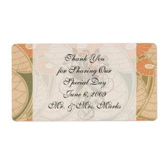 estilo anaranjado del noueveau del arte de las ama etiquetas de envío