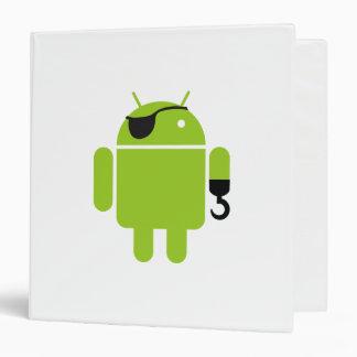 """Estilo androide del pirata del robot carpeta 1 1/2"""""""