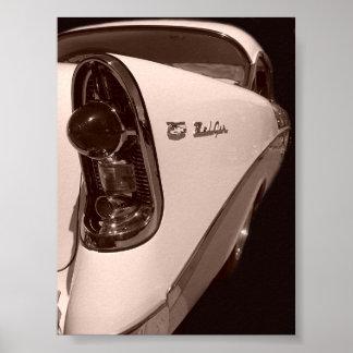 estilo antiguo chevy 56 póster