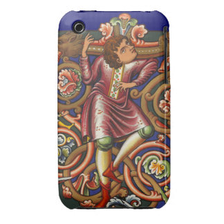 Estilo antiguo elegante del noble medieval del man iPhone 3 fundas