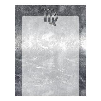 Estilo apenado Grunge de la plata de la muestra Membrete A Diseño
