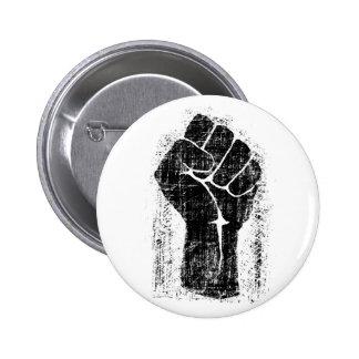 Estilo apenado Grunge del puño de la solidaridad Pin Redondo De 2 Pulgadas