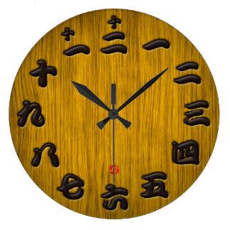 Estilo arbolado del tablero de la muestra del reloj redondo grande