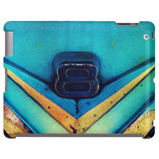Estilo artsy del Grunge azul del emblema de V8