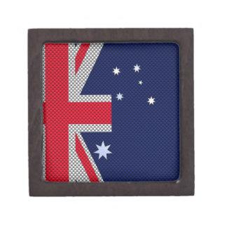 Estilo australiano del cromo de la fibra de cajas de joyas de calidad