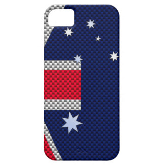 Estilo australiano del cromo de la fibra de funda para iPhone SE/5/5s