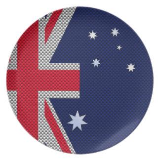 Estilo australiano del cromo de la fibra de plato