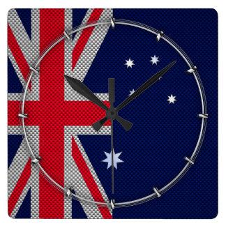 Estilo australiano del cromo de la fibra de reloj cuadrado