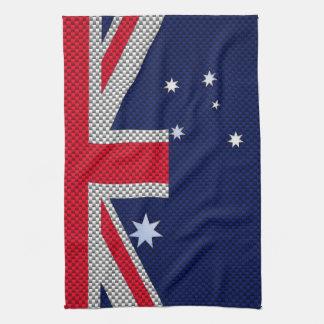 Estilo australiano del cromo de la fibra de toalla de cocina