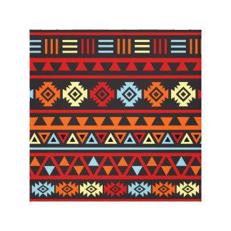 Estilo azteca Ptn (grande) - rojo del amarillo ana Lona Envuelta Para Galerias
