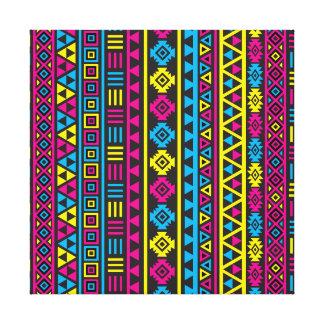 Estilo azteca Ptn (v) - CMY y negro Lienzo Envuelto Para Galerias