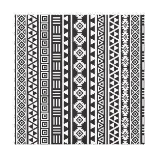 Estilo azteca Ptn (v) - monocromo Impresión En Lona