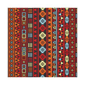 Estilo azteca Ptn (v) - rojo azul del amarillo ana Lienzo Envuelto Para Galerias