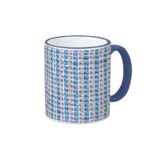 Estilo azul ciánico de los diamantes artificiales taza de dos colores