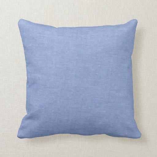 Estilo azul claro del dril de algodón cojín