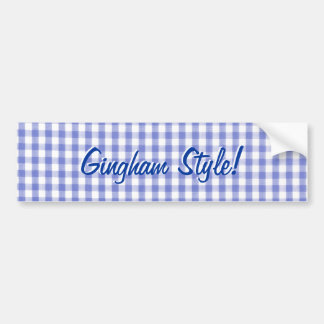 Estilo azul de la guinga - parodia de Gangham Pegatina Para Auto