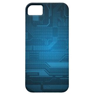 Estilo azul de la tecnología del código binario de iPhone 5 fundas