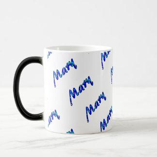 Estilo azul de Maria taza Morphing de 11 onzas