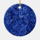 Estilo azul del vitral del diamante ornaments para arbol de navidad