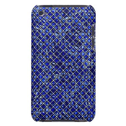 Estilo azul del vitral del diamante iPod Case-Mate cárcasa
