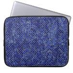 Estilo azul del vitral del diamante mangas computadora
