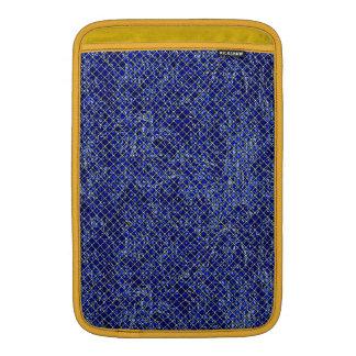 Estilo azul del vitral del diamante fundas macbook air