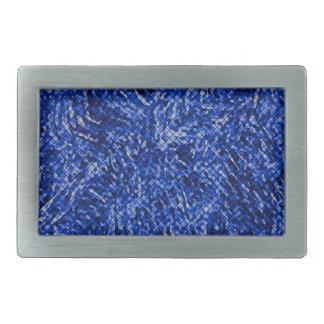 Estilo azul del vitral del diamante hebillas de cinturón rectangulares