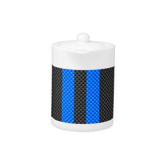 Estilo azul deportivo de la fibra de carbono que