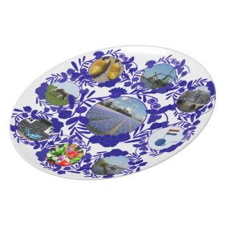 Estilo azul Holanda de Delft Delftware del vintage Plato De Cena