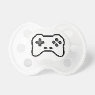 Estilo blanco del videojuego 8bit del negro del re chupete de bebé