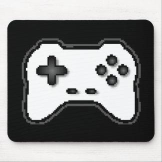 Estilo blanco del videojuego 8bit del negro del re mousepad