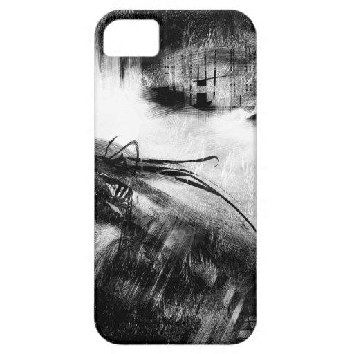 Estilo blanco y negro 2 iPhone 5 Case-Mate protectores