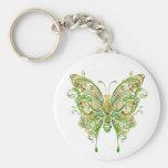 Estilo colorido del tatuaje de la mariposa llaveros personalizados