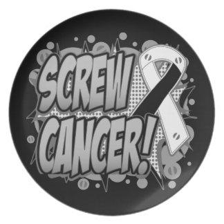 Estilo cómico del cáncer carcinoide del tornillo plato para fiesta