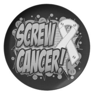 Estilo cómico del cáncer de hueso del tornillo platos