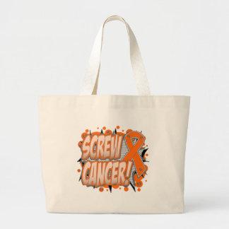 Estilo cómico del cáncer de la leucemia del tornil bolsas de mano