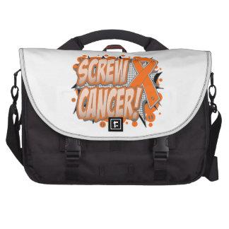 Estilo cómico del cáncer de la leucemia del tornil bolsa de ordenador