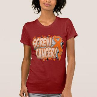 Estilo cómico del cáncer de la leucemia del tornil camiseta