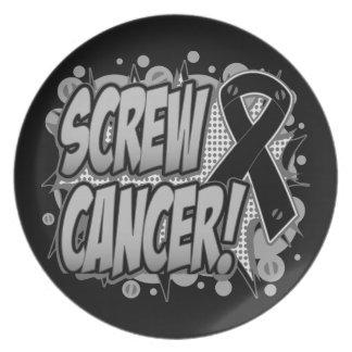 Estilo cómico del cáncer de piel del tornillo plato para fiesta
