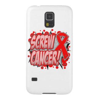 Estilo cómico del cáncer de sangre del tornillo funda de galaxy s5