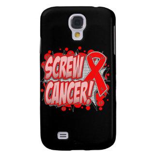 Estilo cómico del cáncer de sangre del tornillo funda para galaxy s4