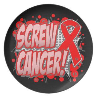 Estilo cómico del cáncer de sangre del tornillo plato