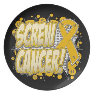 Estilo cómico del cáncer del apéndice del tornillo plato para fiesta