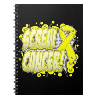 Estilo cómico del cáncer del sarcoma del tornillo libretas